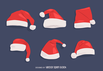 High-Quality Free Christmas Vector Graphics 2016 - Santa Hat