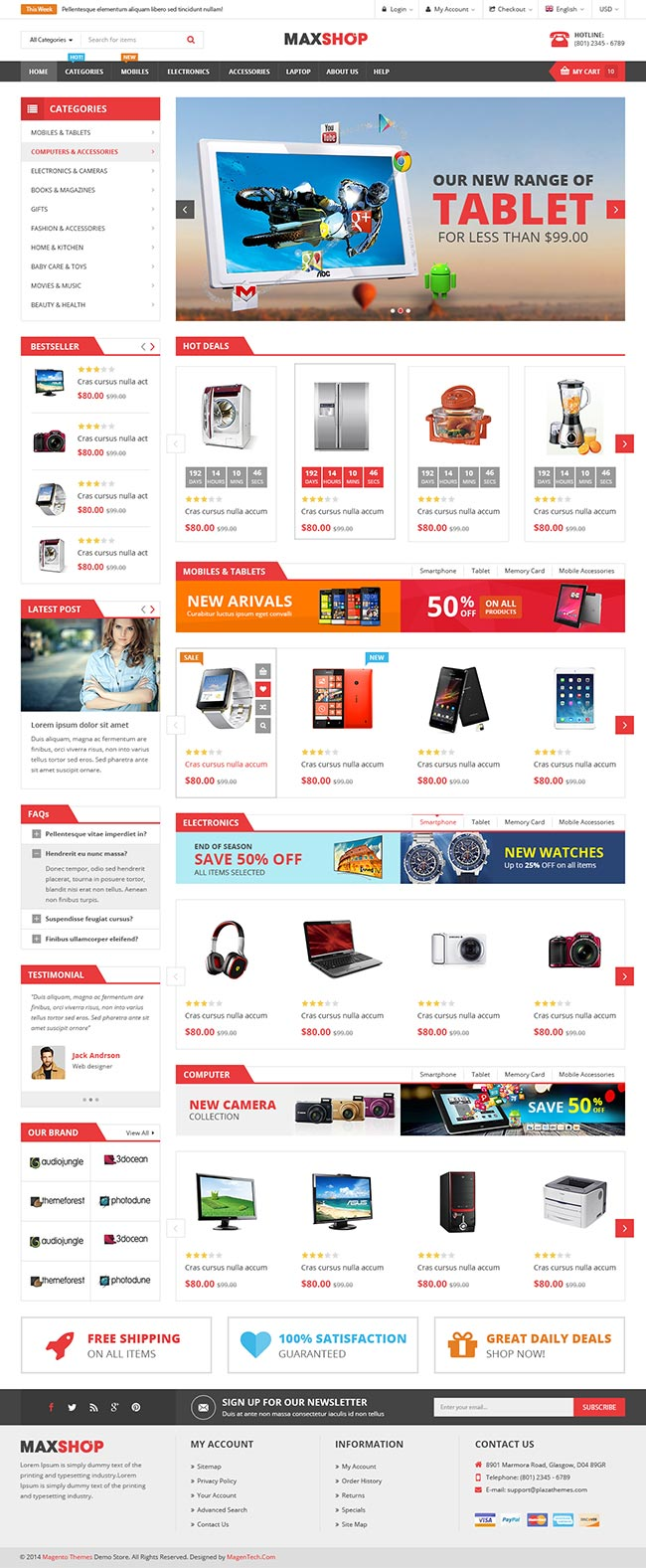maxshop 10 best joomla ecommerce templates