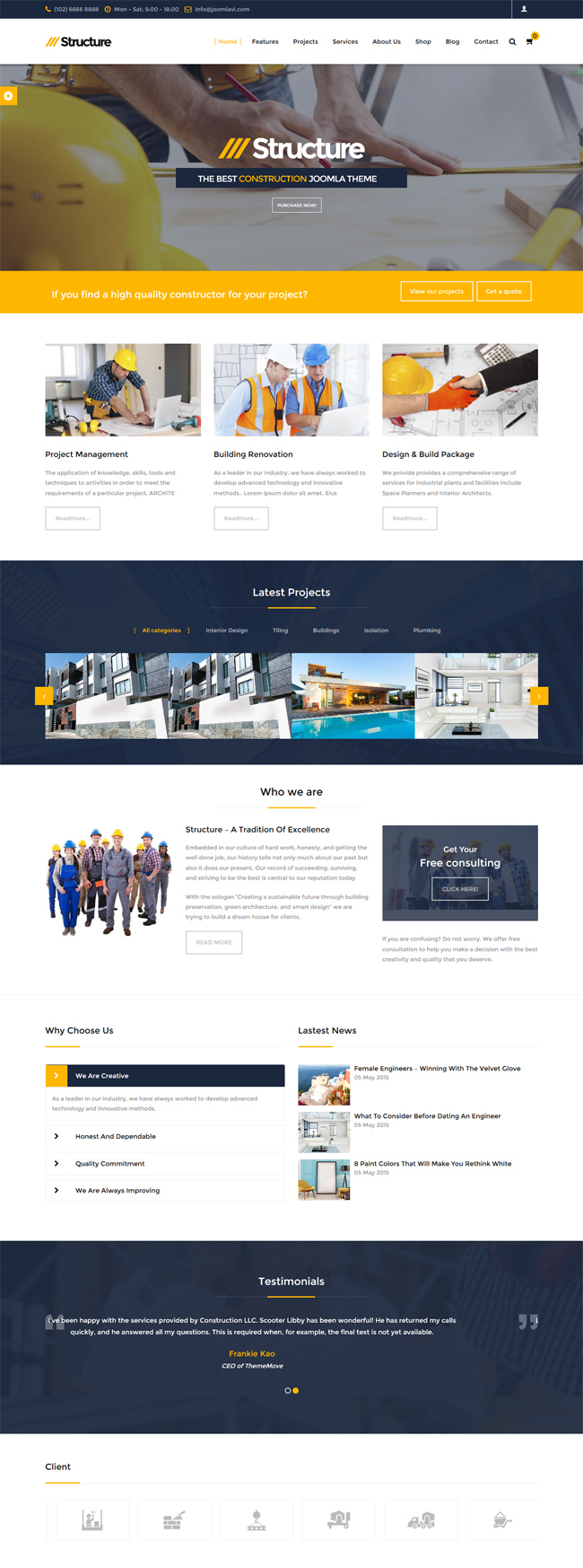 Structure - 10 Best Joomla Ecommerce templates