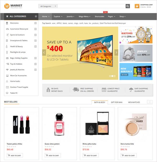 SJ Market - Responsive eCommerce Joomla Template