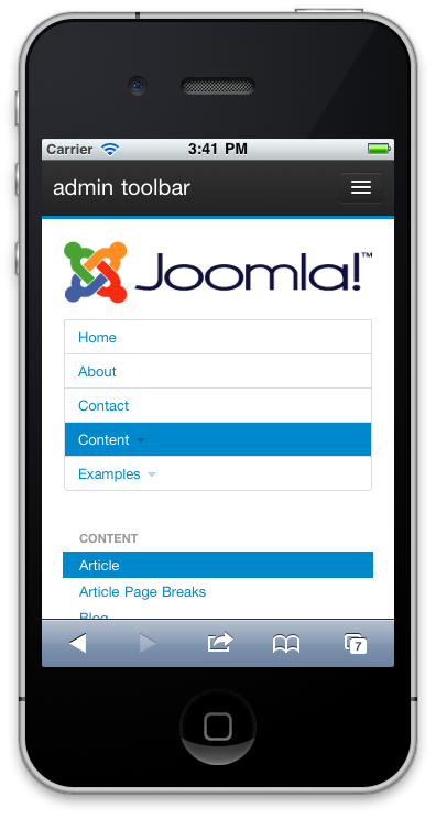 Responsive menu module for joomla.