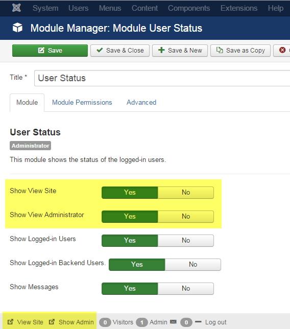 User Status Module