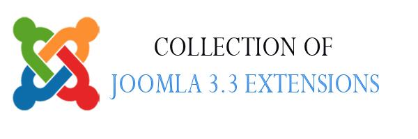 Joomla 3.3 extensions