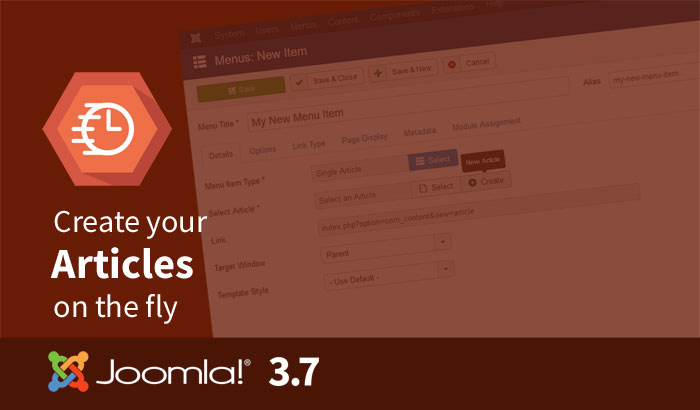 Joomla 3.7 - Improved workflow