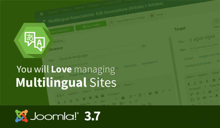 joomla 3.7 - multilingual management