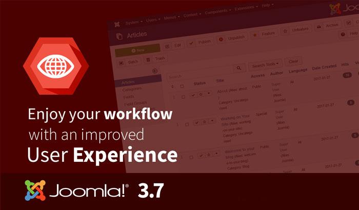 Joomla 3.7 - User experience
