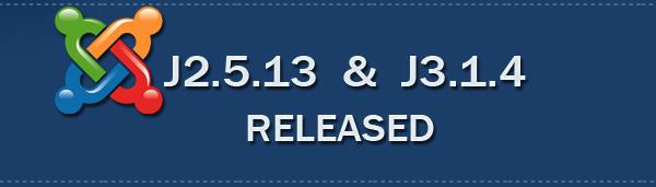 joomla3.1.4-and-2.5.13