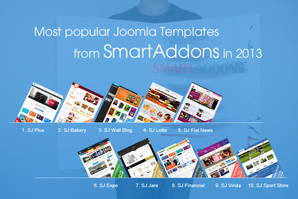 Most popular Joomla templates from SmartAddons