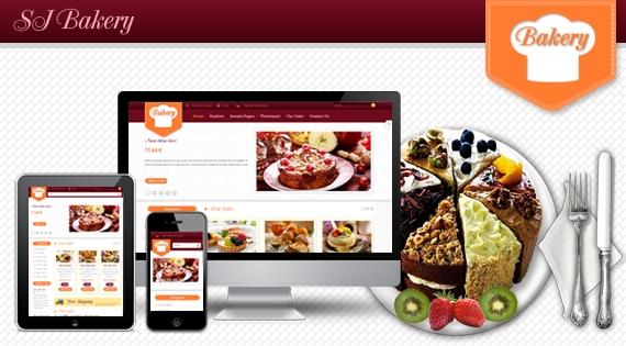 SJ Bakery - Responsive Joomla template