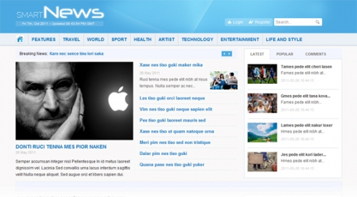 Smart News - free Joomla template