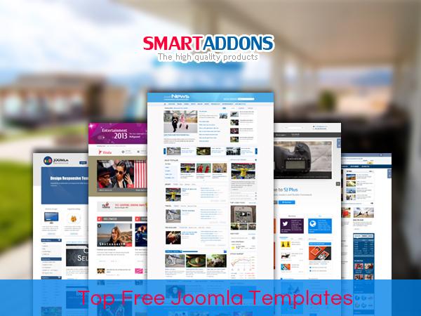 Top free Joomla templates from SmartAddons