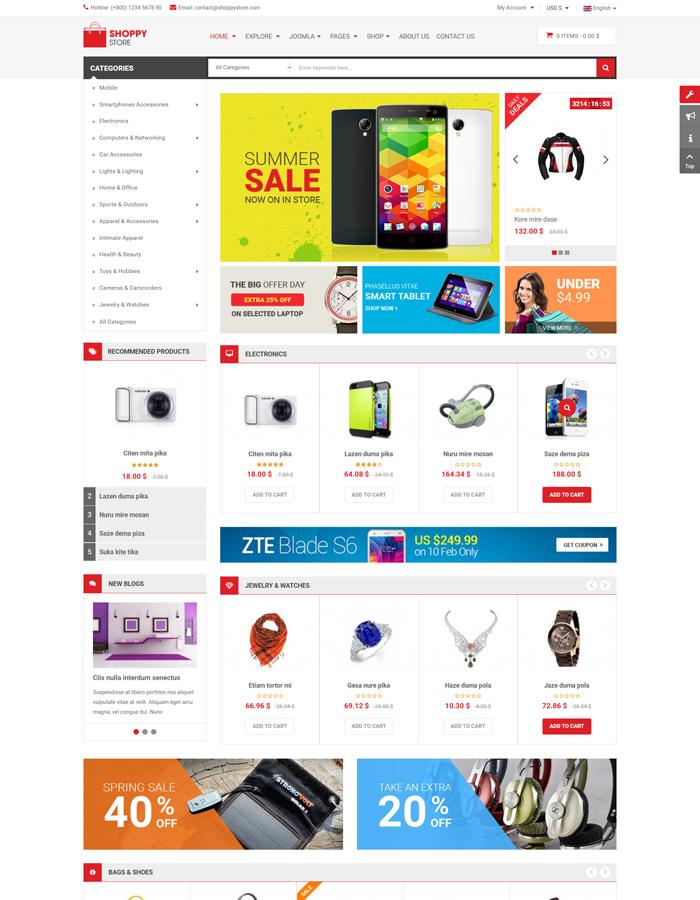 Responsive Joomla eCommerce Template VirtueMart 3 - SJ