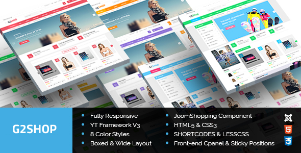 Best Joomla Templates for March- g2shop