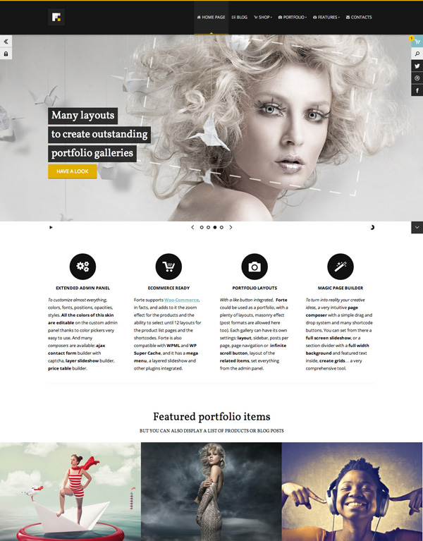 Forte - Top eCommerce Wordpress Theme