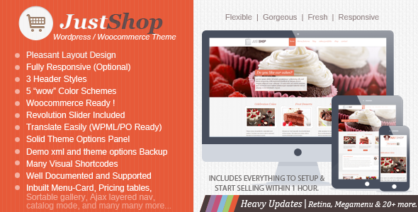 Justshop - Top eCommerce Wordpress Theme