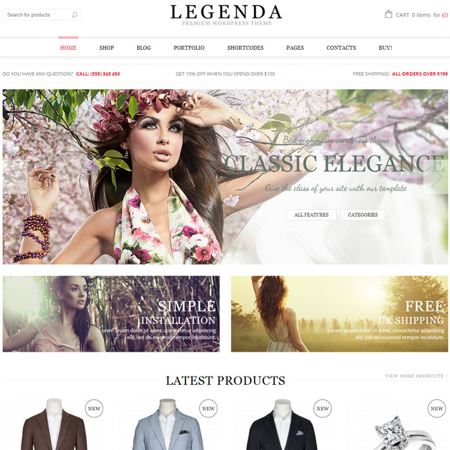 Legenda - Top eCommerce Wordpress Theme