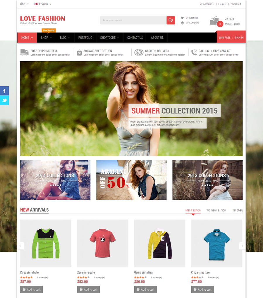Love Fashion - Top eCommerce Wordpress Theme