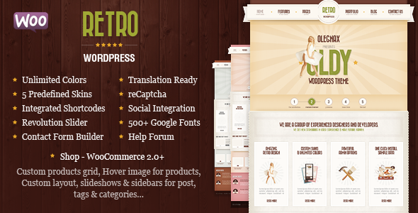 Retro - Top eCommerce Wordpress Theme