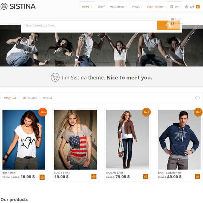 Sistina  - Top eCommerce Wordpress Theme