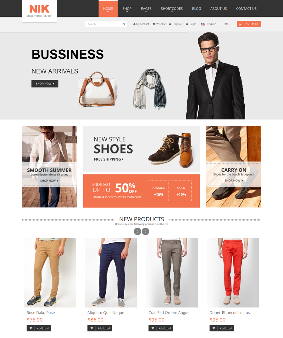 Nik - Top eCommerce Wordpress Theme