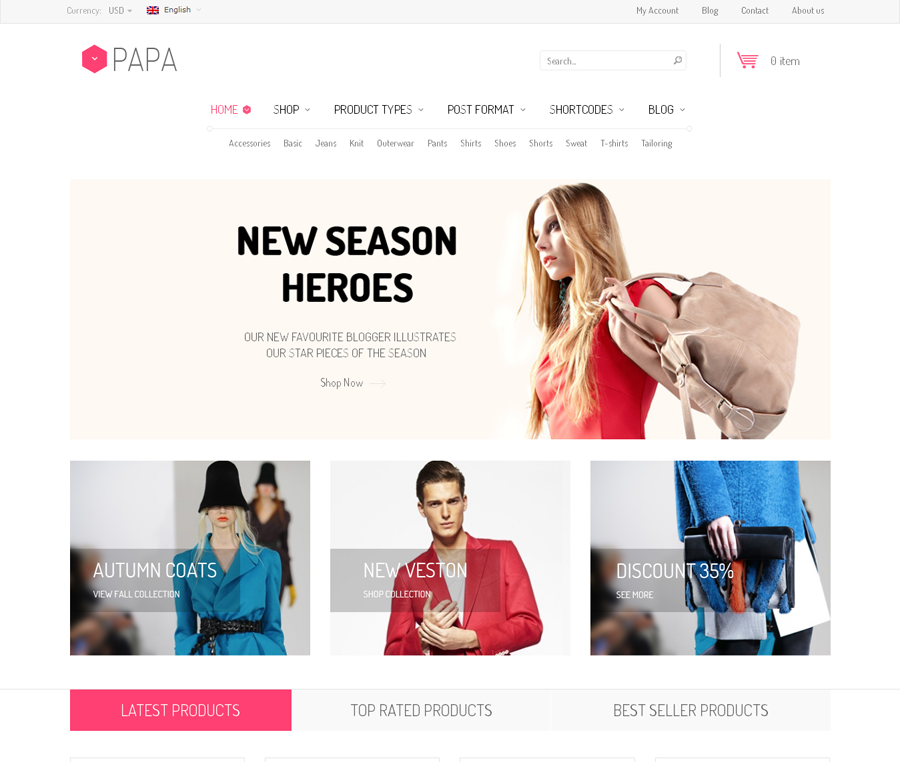 SW Papa - Top eCommerce Wordpress Theme