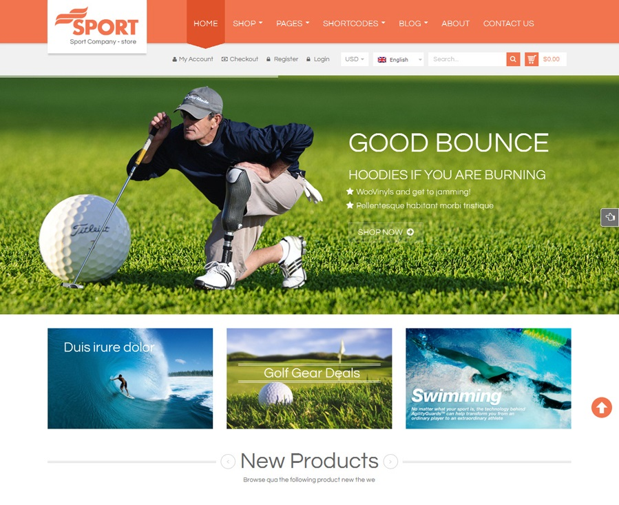 SW Sport - Top eCommerce Wordpress Theme