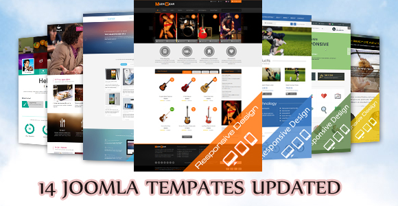 14 Joomla Templates updated to be compatible with Joomla 3.3