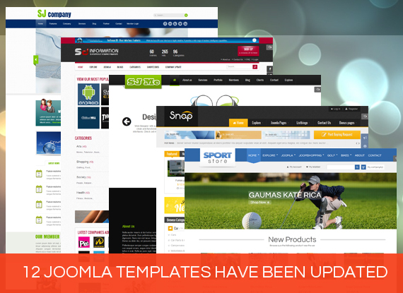 12 Joomla Templates - Updated new versions