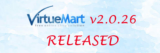 VirtueMart 2.0.26 Released