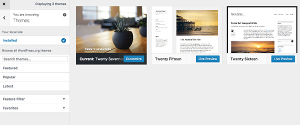 Joomla 3.7 - Theme Previews