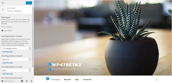 Joomla 3.7 - Theme Settings