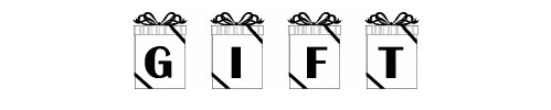 101 gift font