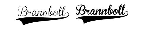 brannboll font