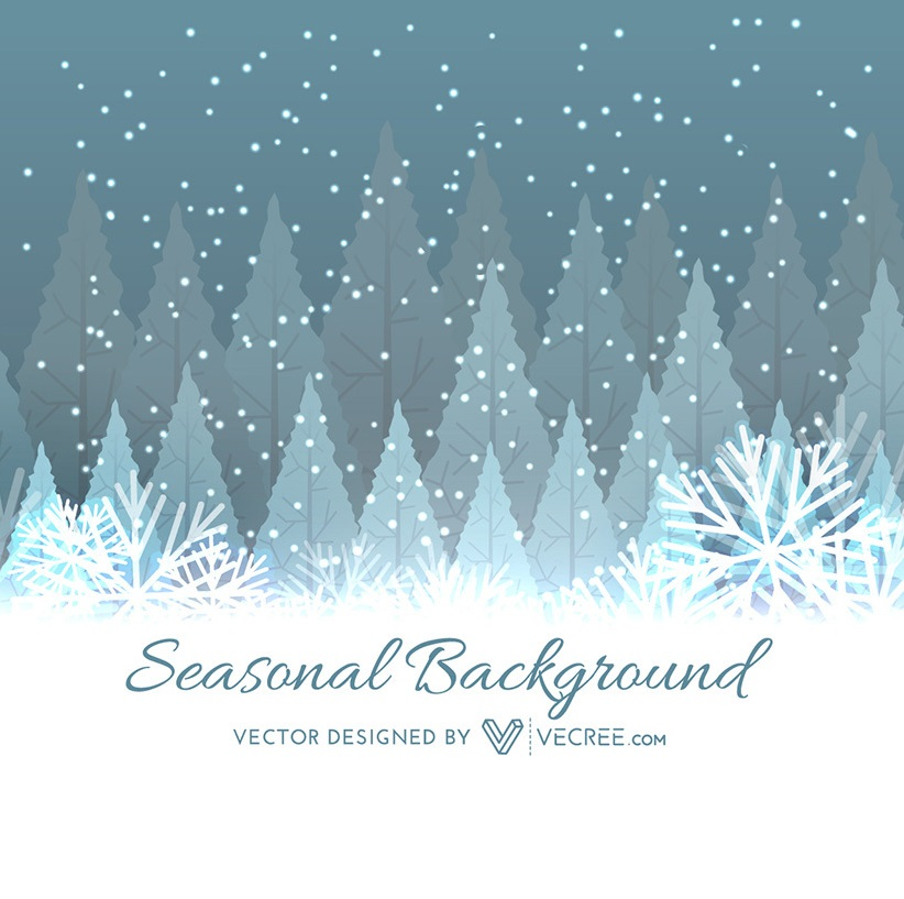 Beautiful Free Winter Tree Christmas Background (Download). Xmas Vector Graphics    Smartaddons
