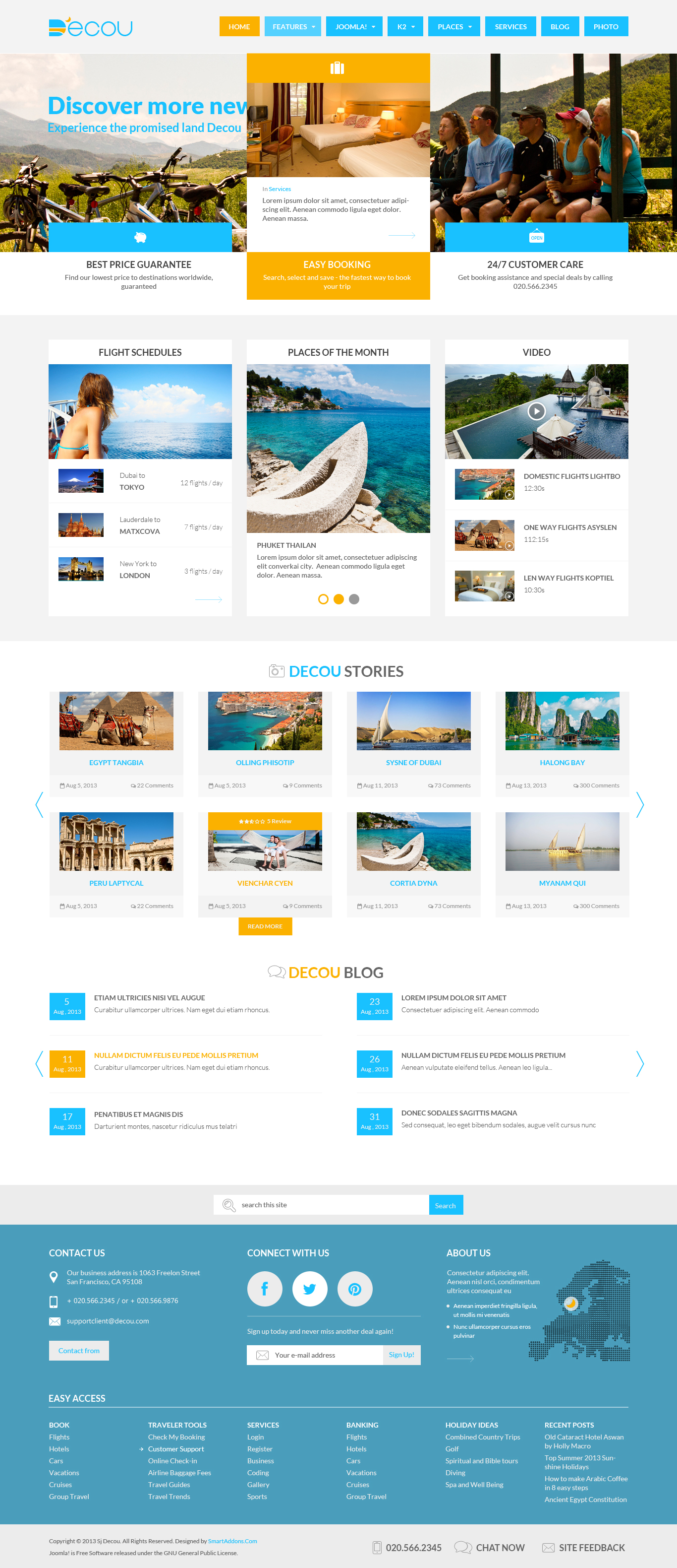 PREVIEW] SJ Decou - Travel Joomla Template for K2 Component