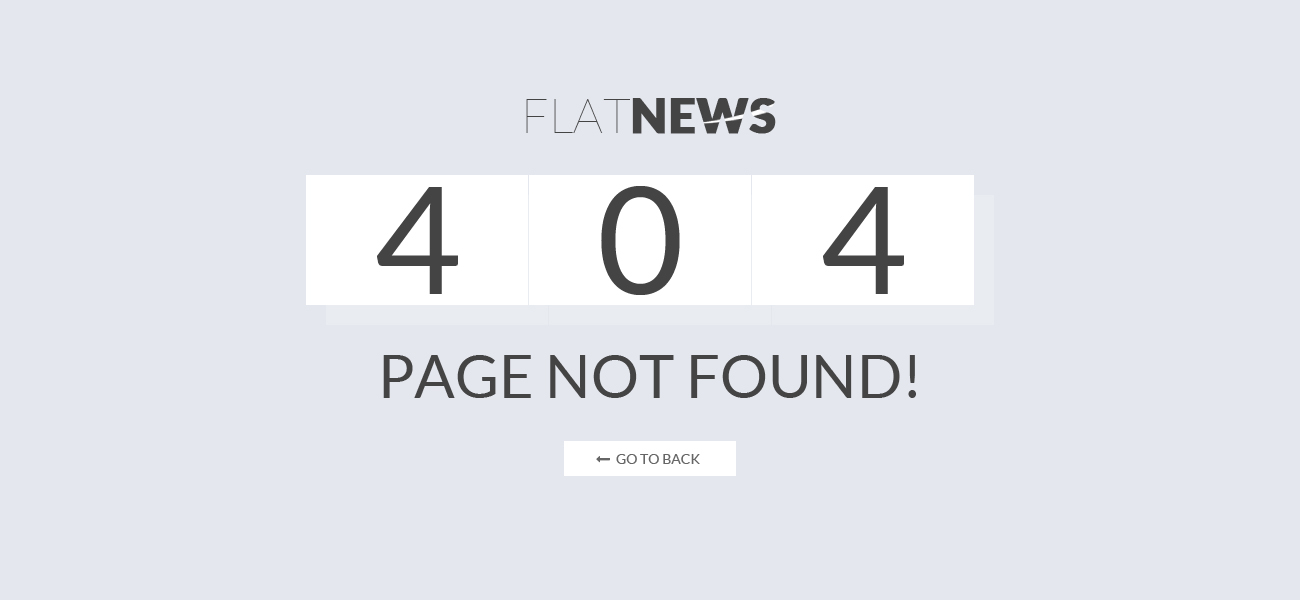 Preview SJ Flat News - 404 Page