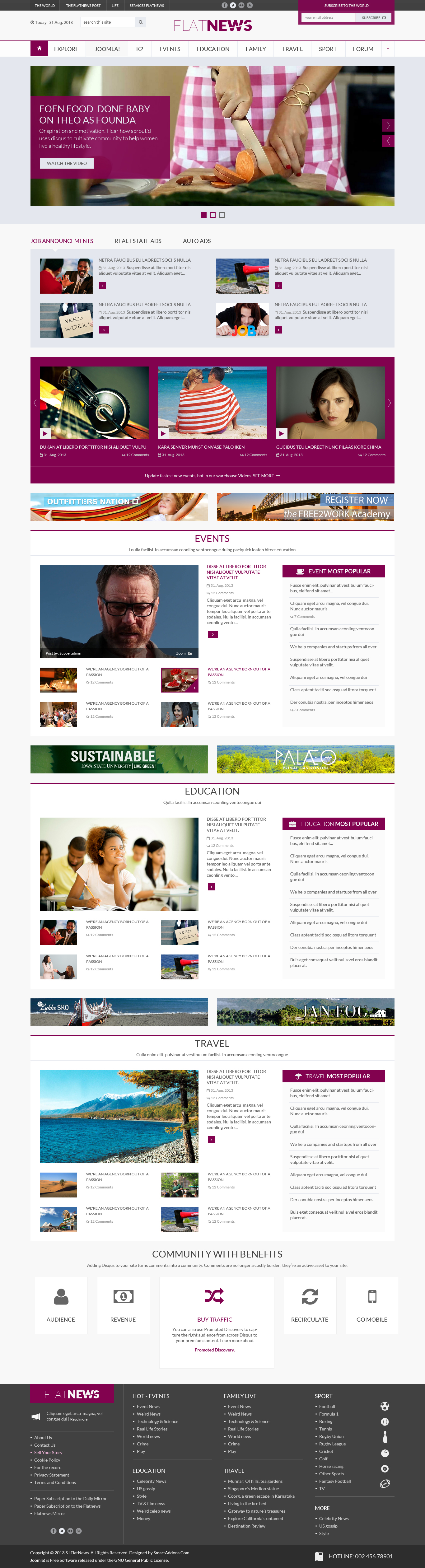 Preview SJ Flat News - Responsive Joomla Template