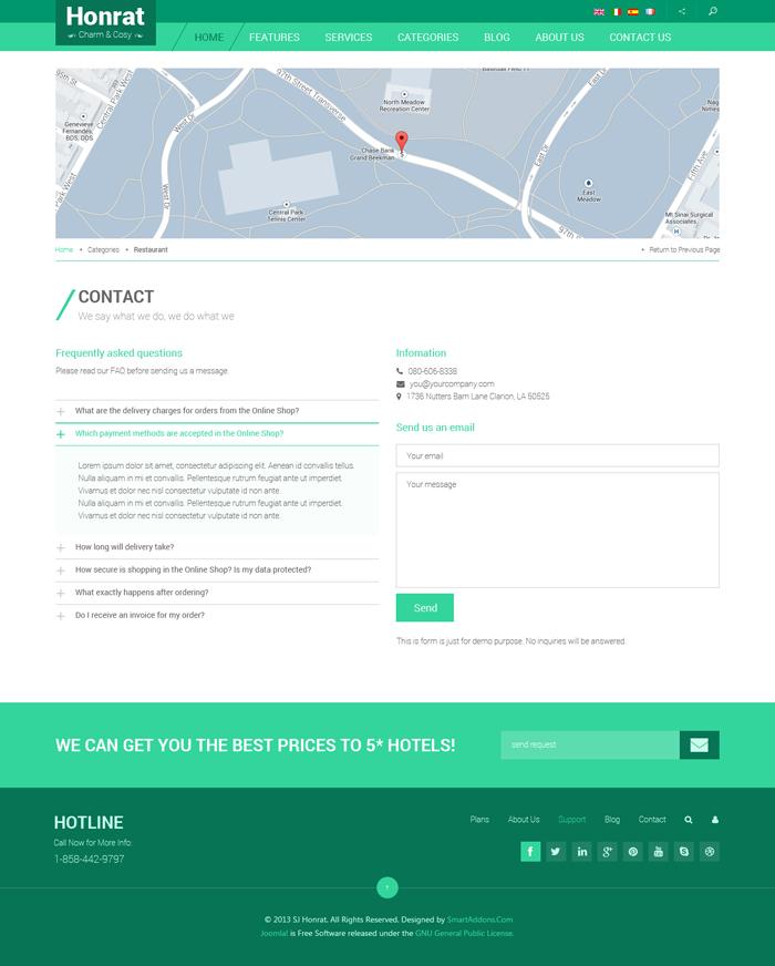 Preview SJ Honrat - Responsive Joomla Template