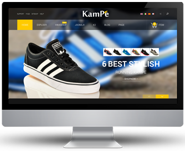 Preview SJ Kampe - Responsive Joomla Template
