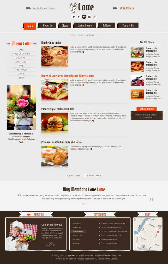 Content listing layout