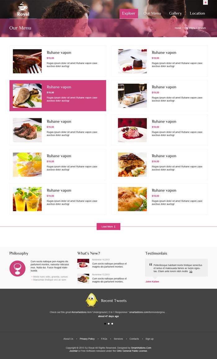Preview SJ Royal - Responsive Joomla Template