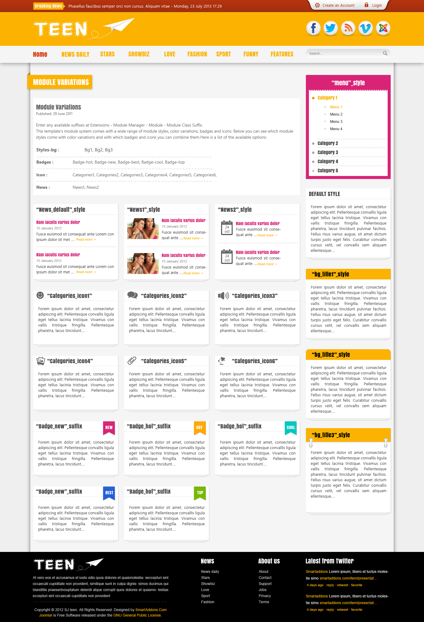 download templates for kunena forum free