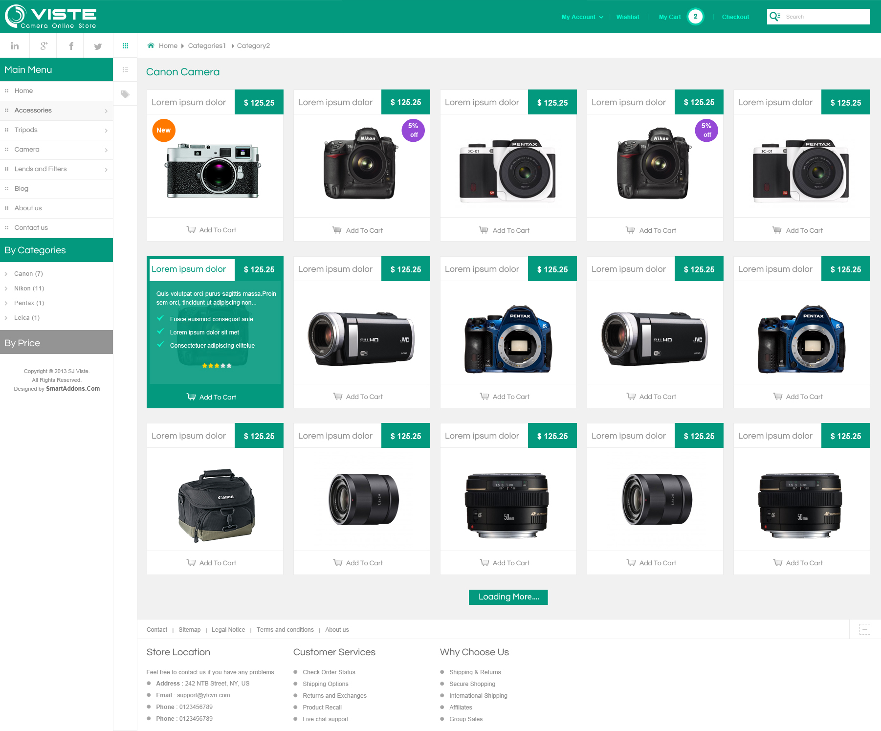 Preview] SJ Viste - Responsive Joomla! template with VirtueMart