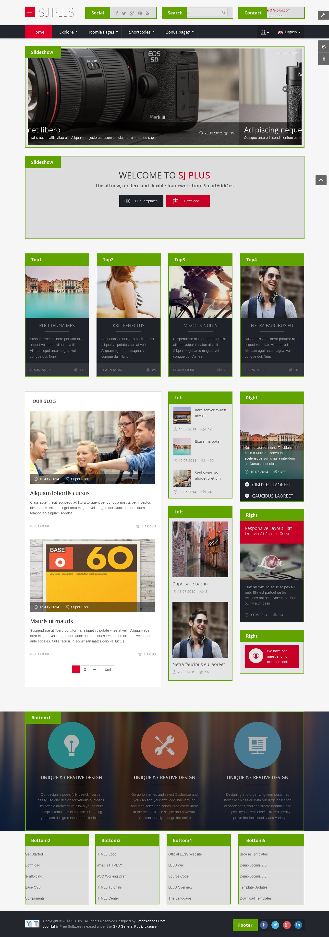 Free responsive joomla business template sj plus template attributes wajeb Gallery
