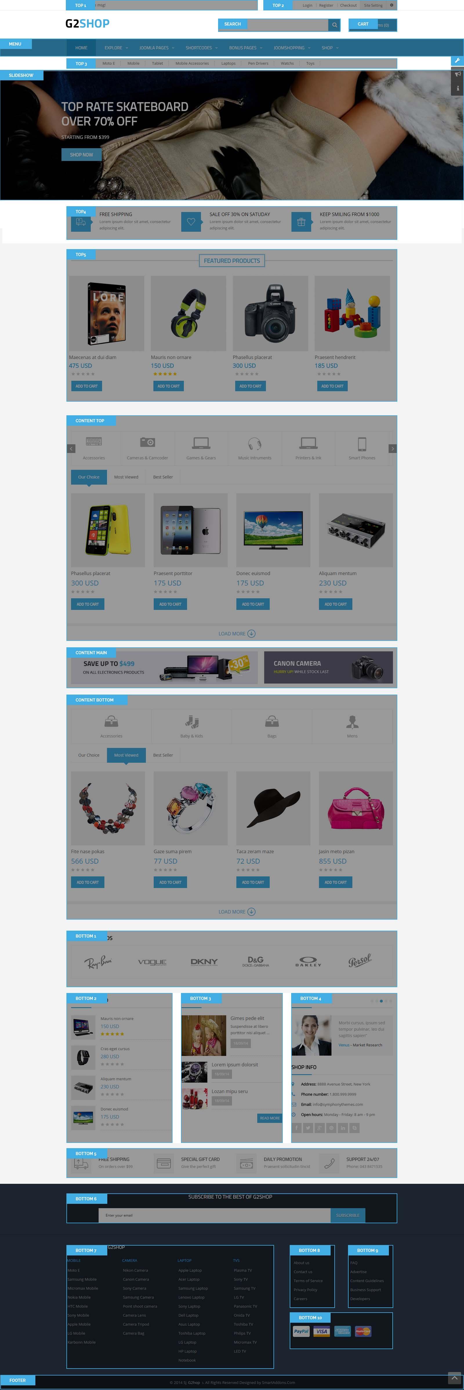 Responsive Joomla eCommerce Template for JoomShopping - SJ G2Shop