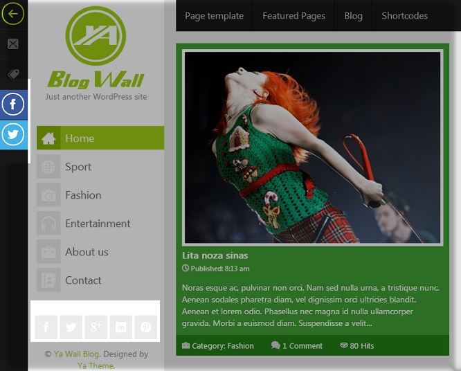 YA Blog Wall