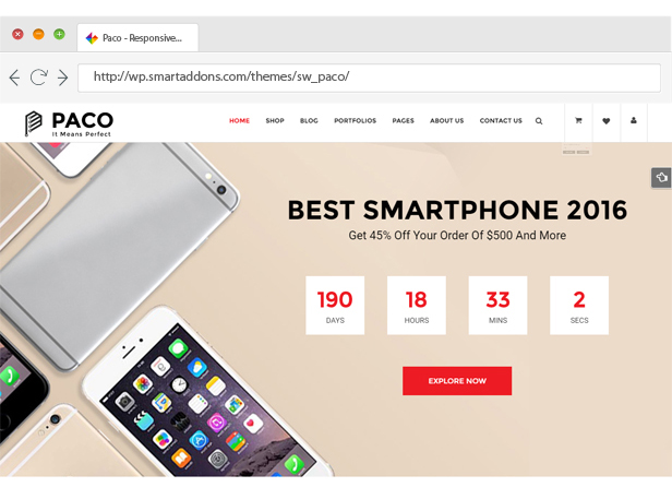 Paco - Responsive WooCommerce WordPress Theme - Beautiful Slider