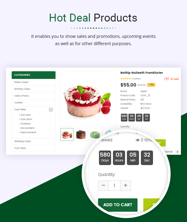 cakeshop - Opencart 3 Theme