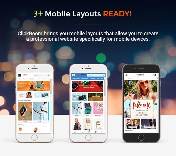 Clickboom - Opencart Theme