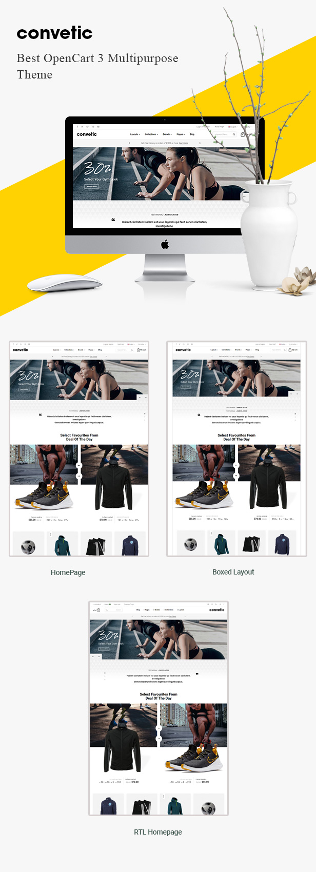 convetic - Opencart Theme